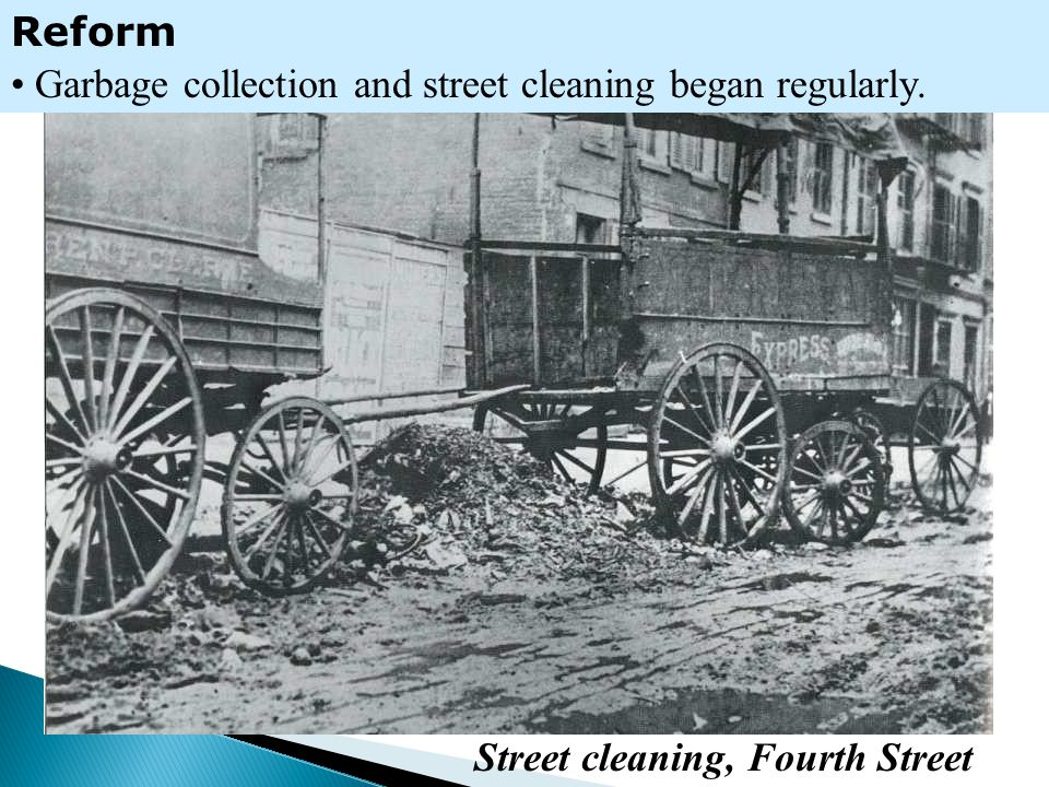 Street cleaning, Fourth Street