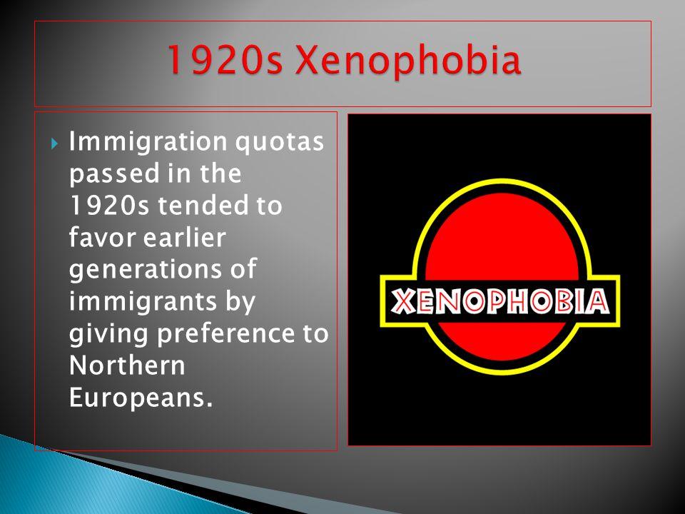 1920s Xenophobia