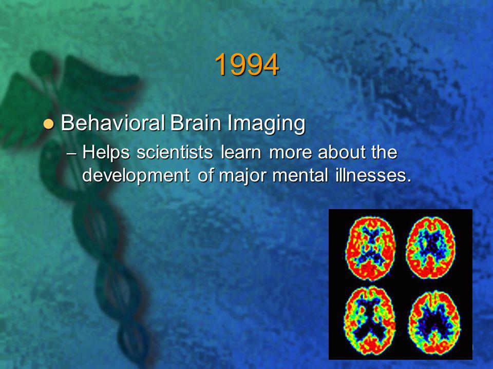 1994 Behavioral Brain Imaging