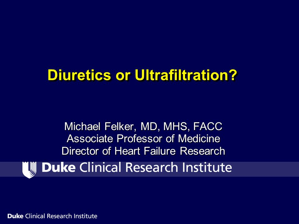 Diuretics or Ultrafiltration