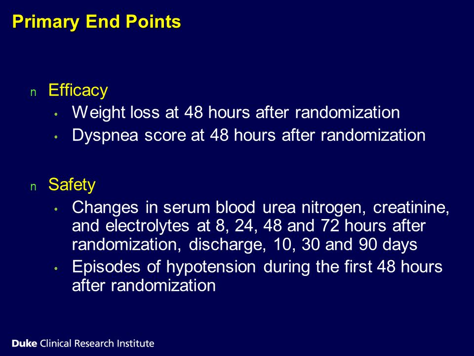 Primary End Points Efficacy