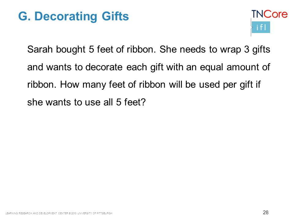 G. Decorating Gifts