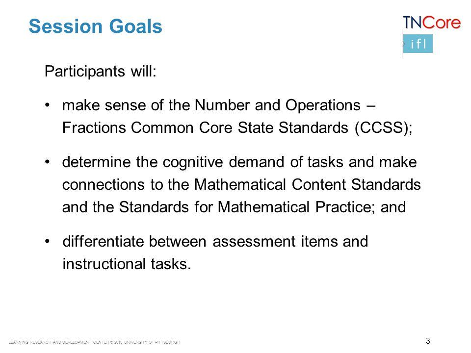 Session Goals Participants will: