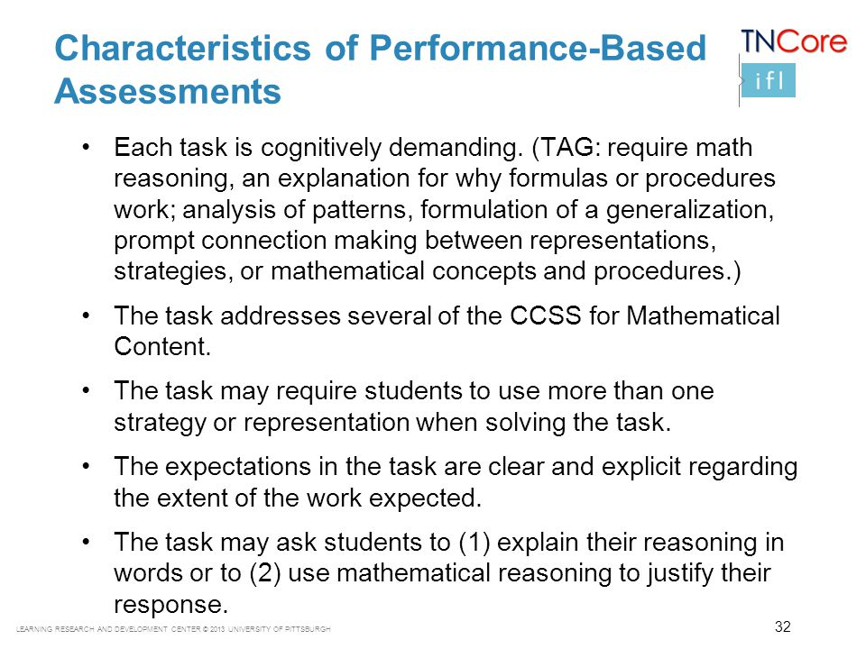 Characteristics of Performance-Based Assessments