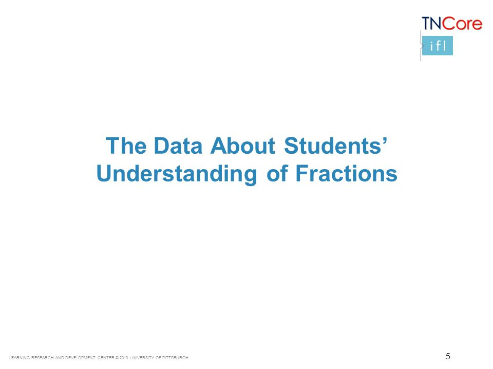 The Data About Students' Understanding of Fractions