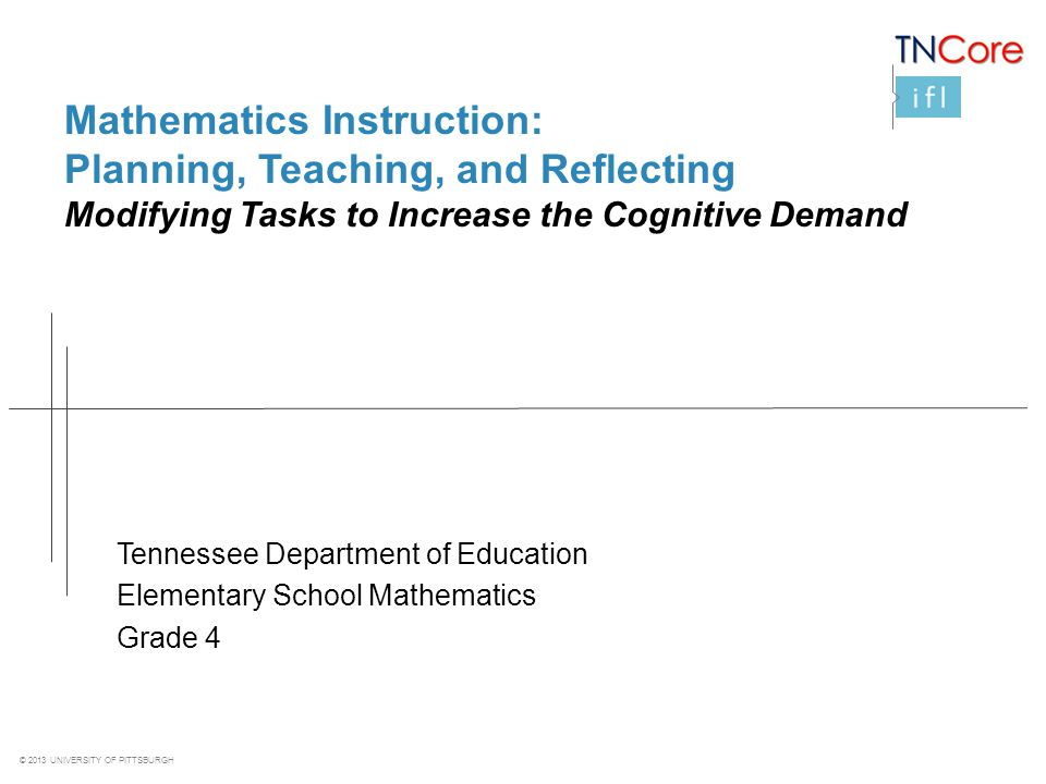 Mathematics Instruction: Planning, Teaching, and Reflecting
