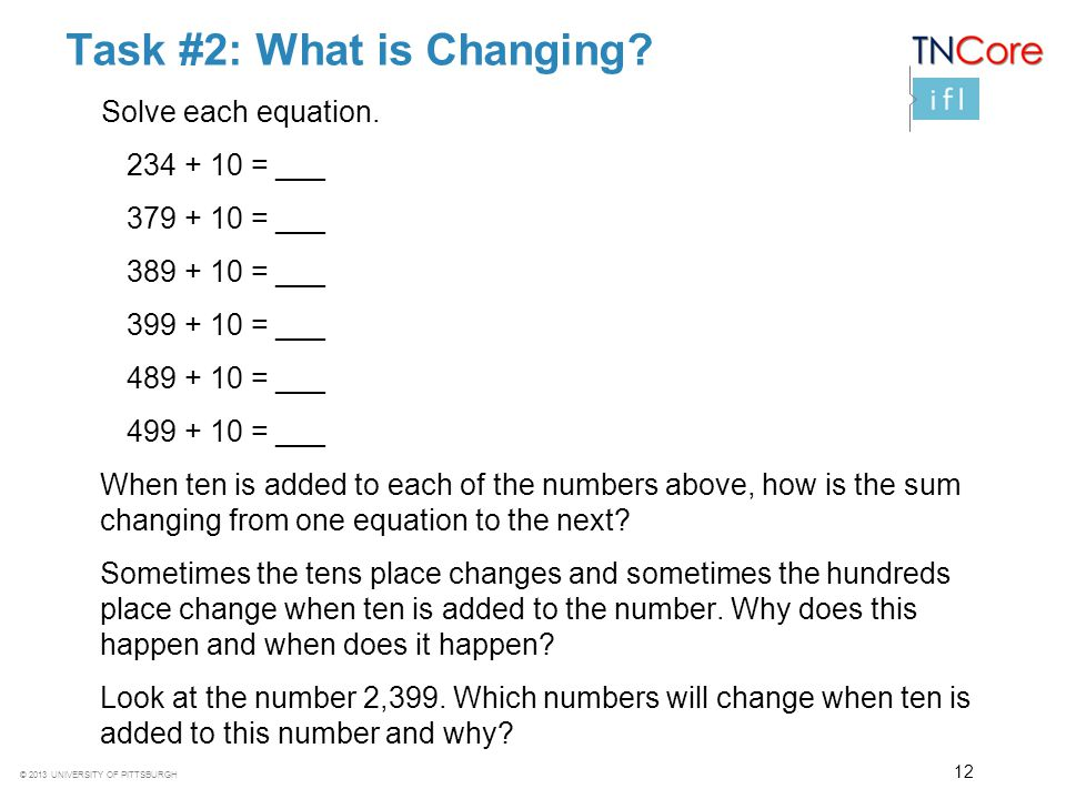 Task #2: What is Changing