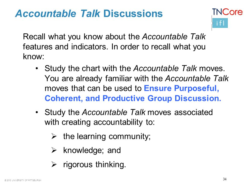 Accountable Talk Discussions