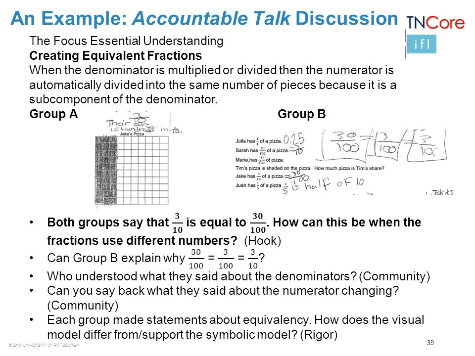 An Example: Accountable Talk Discussion