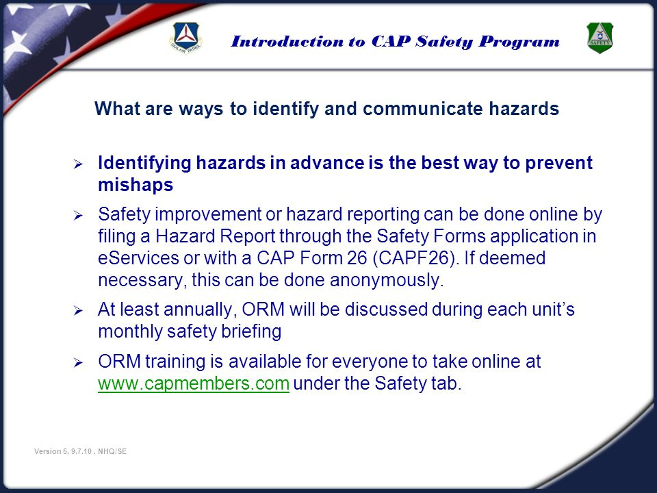 What are ways to identify and communicate hazards