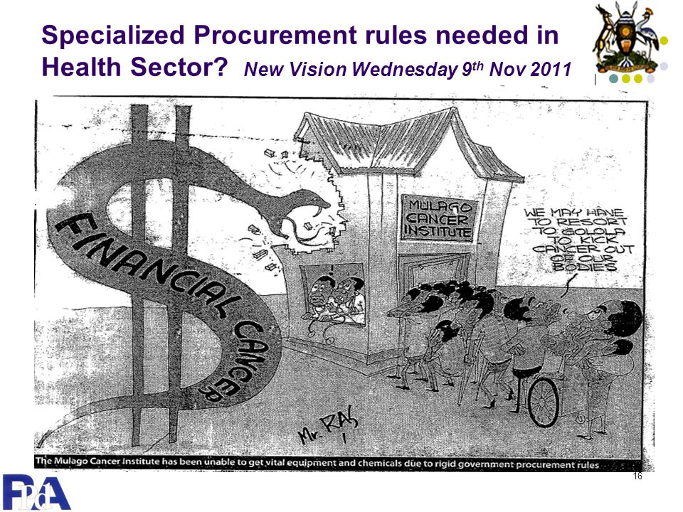 Specialized Procurement rules needed in Health Sector