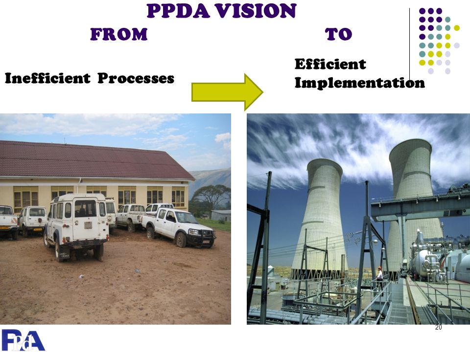 PPDA VISION FROM TO Efficient Implementation Inefficient Processes