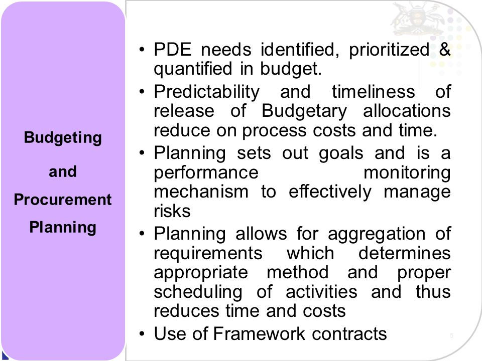 and Procurement Planning