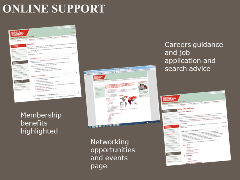ONLINE SUPPORT Careers guidance and job application and search advice
