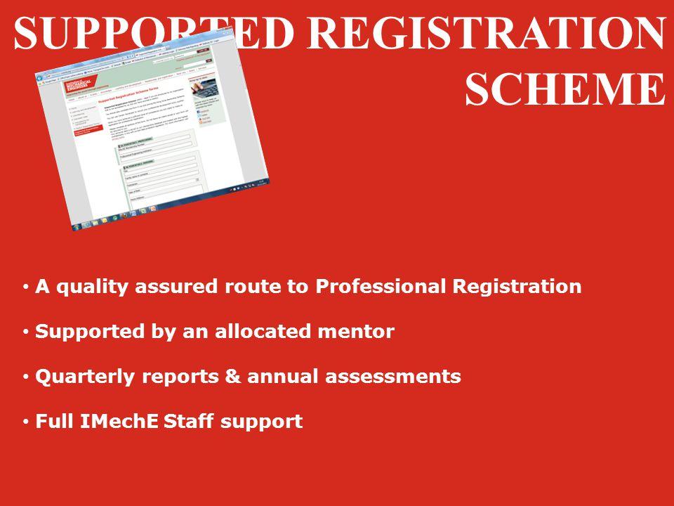 SUPPORTED REGISTRATION SCHEME