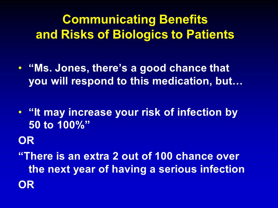 Communicating Benefits and Risks of Biologics to Patients