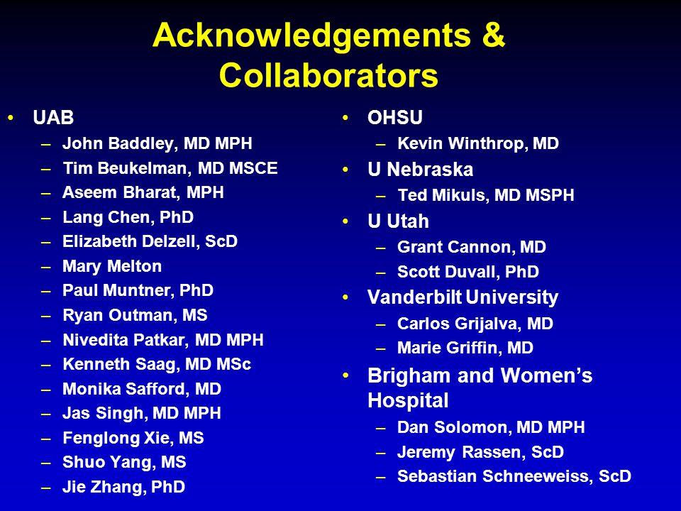 Acknowledgements & Collaborators
