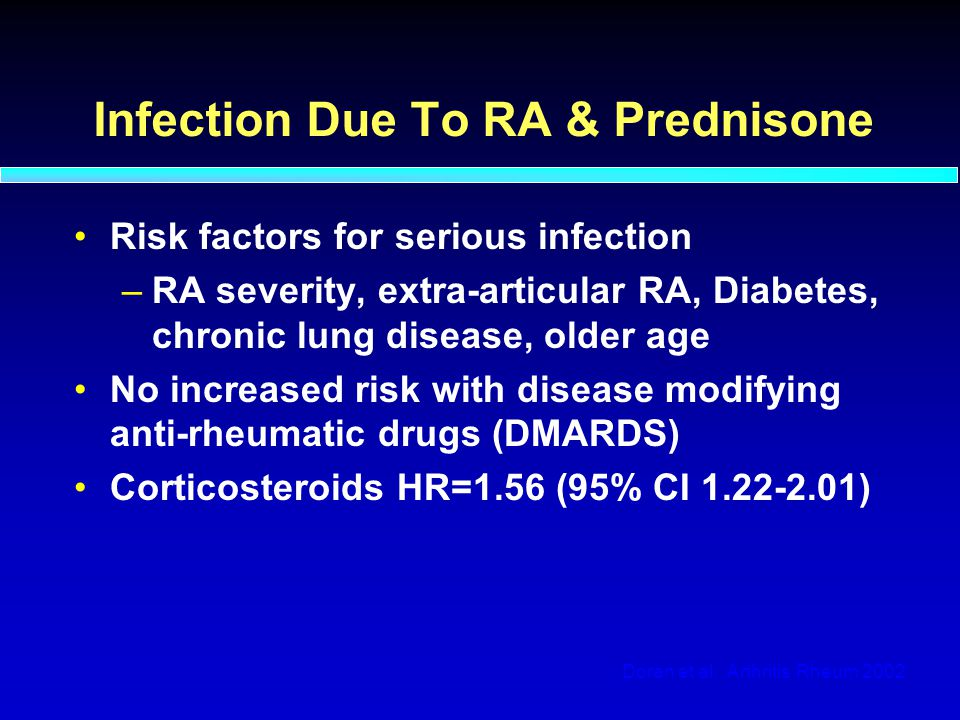 Infection Due To RA & Prednisone