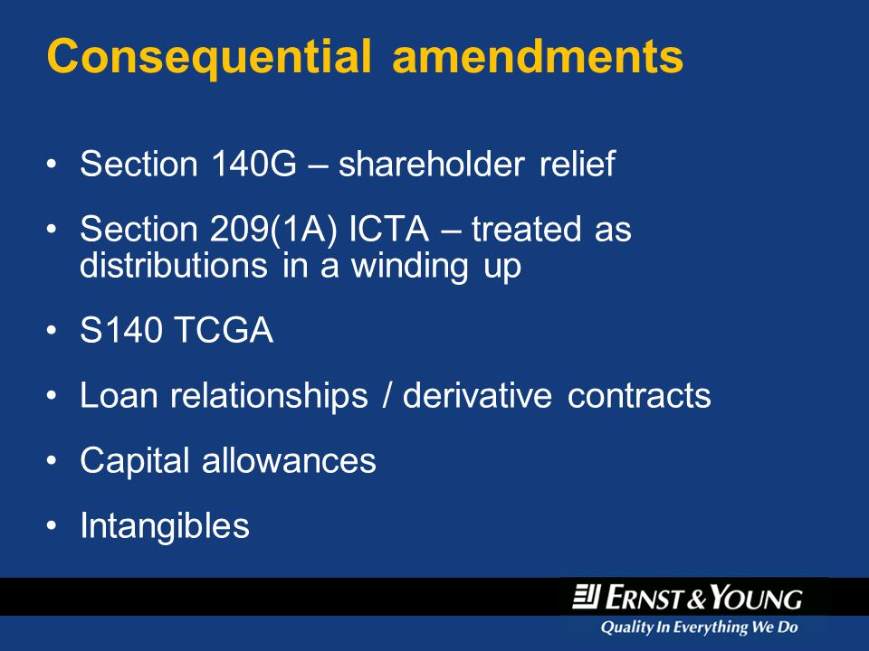 Consequential amendments