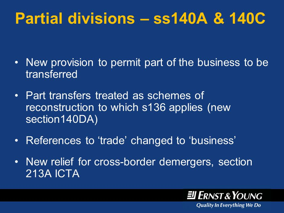 Partial divisions – ss140A & 140C