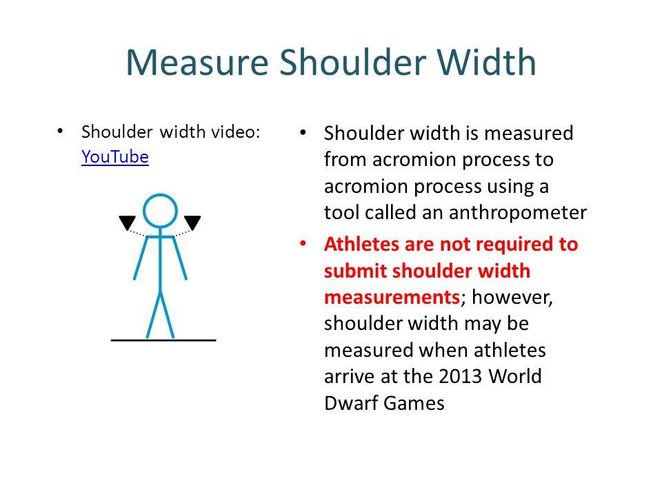 Measure Shoulder Width