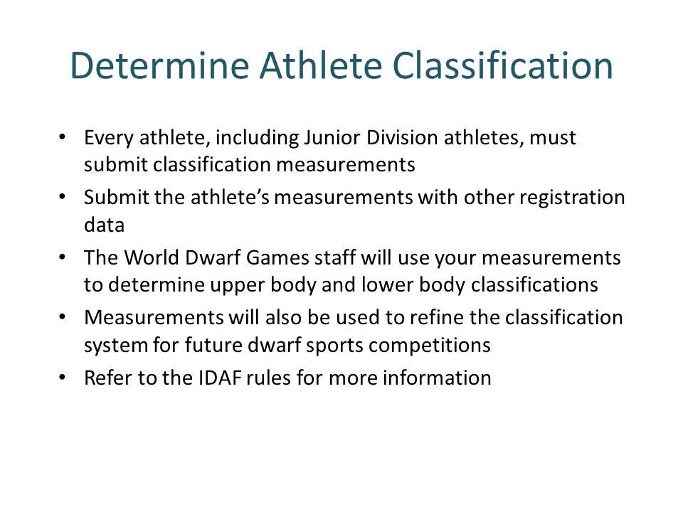 Determine Athlete Classification