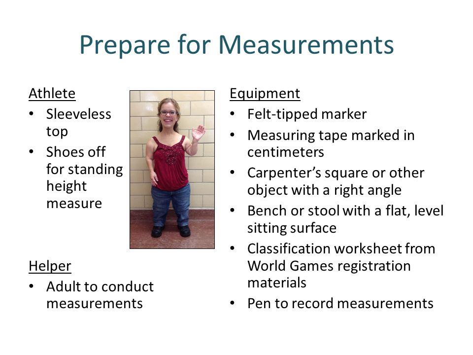 Prepare for Measurements