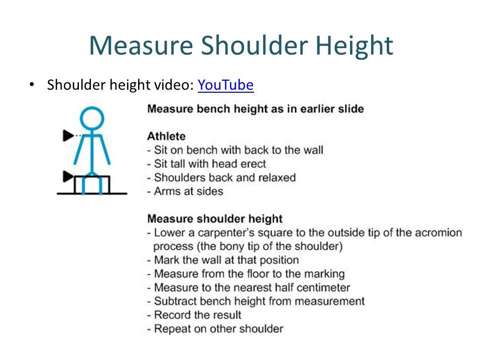 Measure Shoulder Height