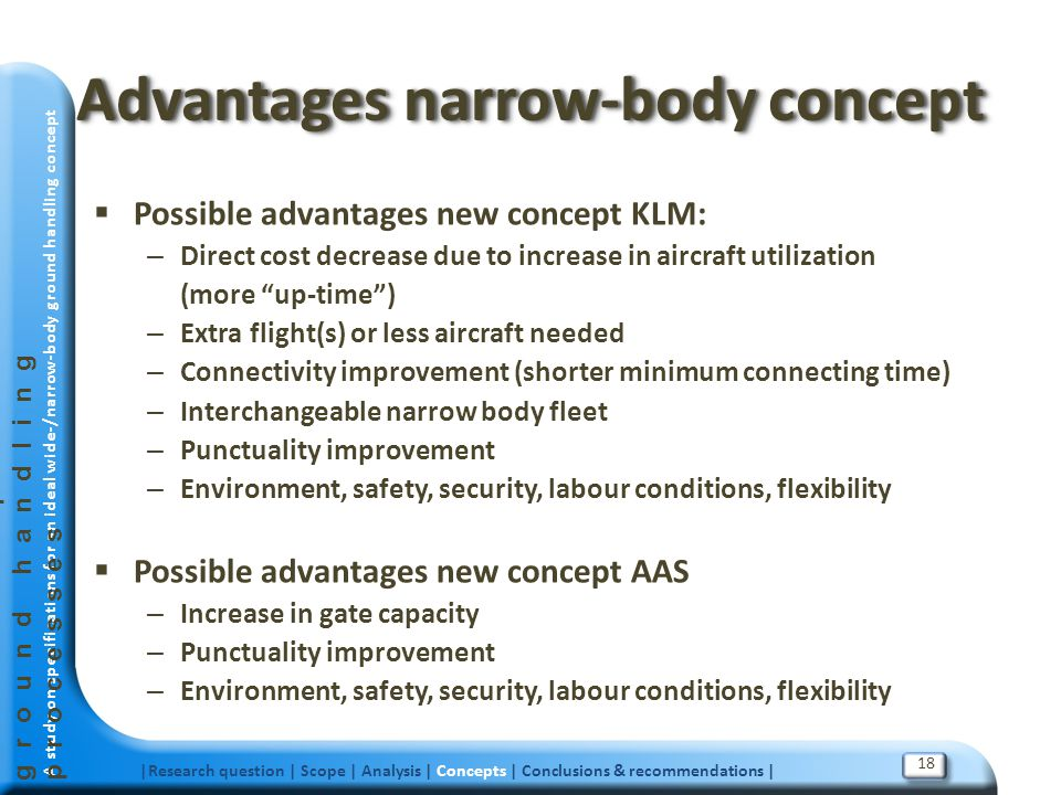 Advantages narrow-body concept