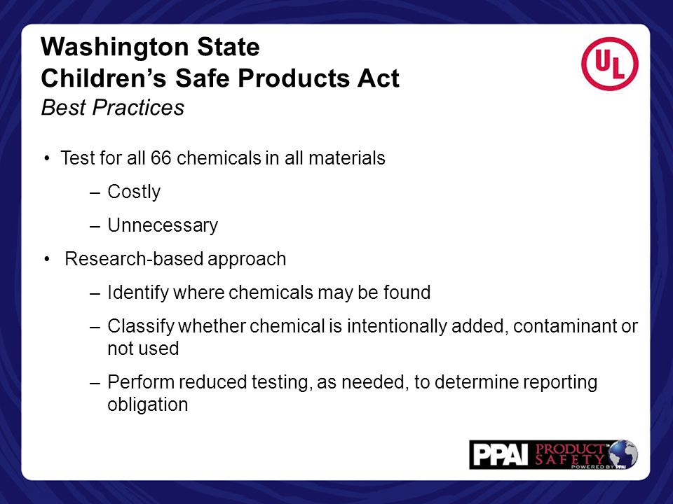 Children's Safe Products Act