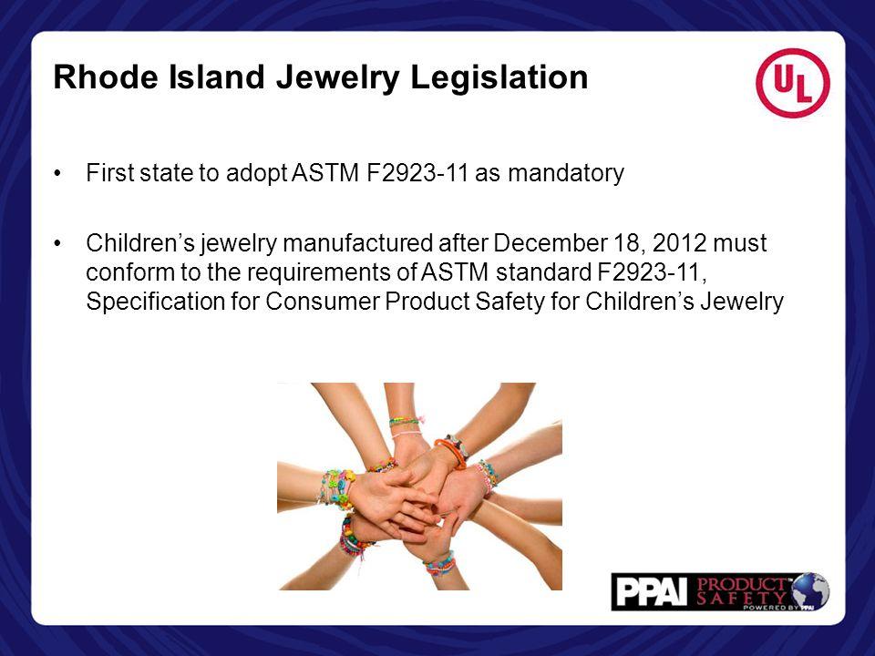 Rhode Island Jewelry Legislation