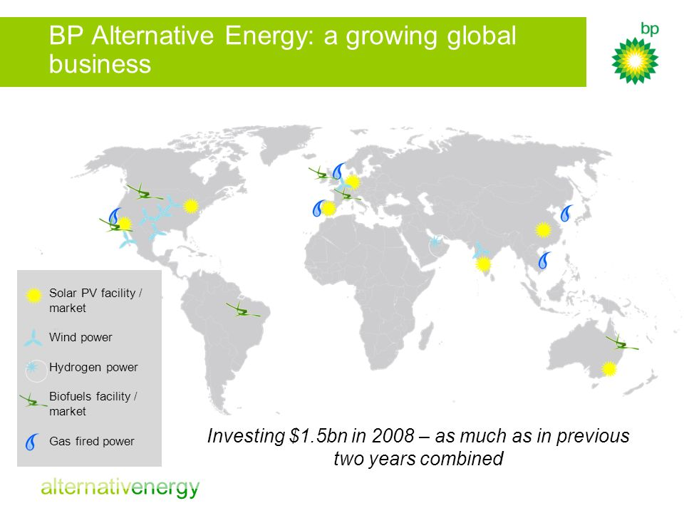 BP Alternative Energy: a growing global business