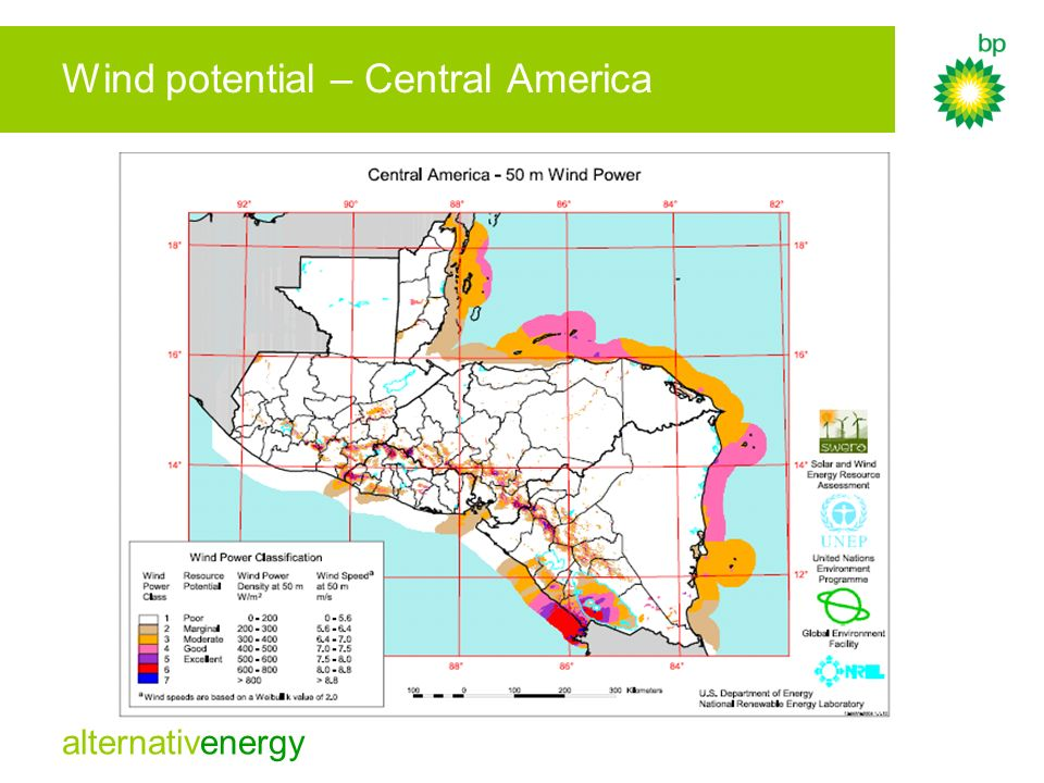 Wind potential – Central America