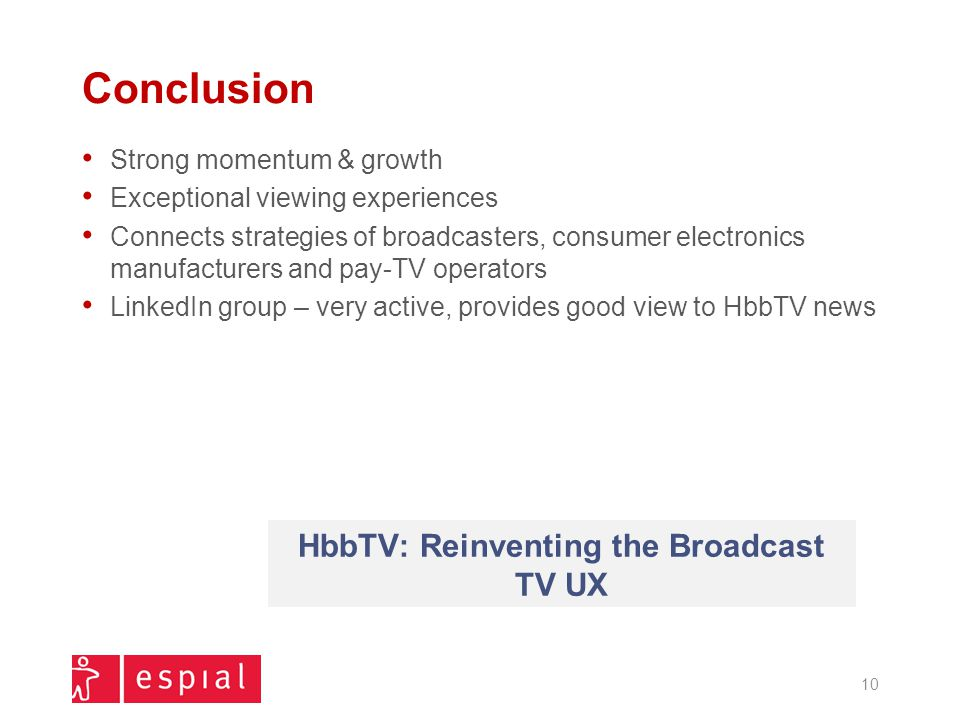 HbbTV: Reinventing the Broadcast TV UX