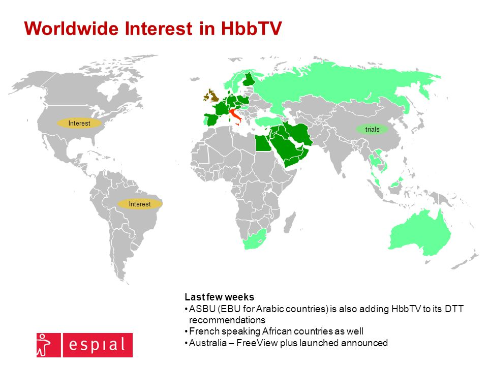 Worldwide Interest in HbbTV