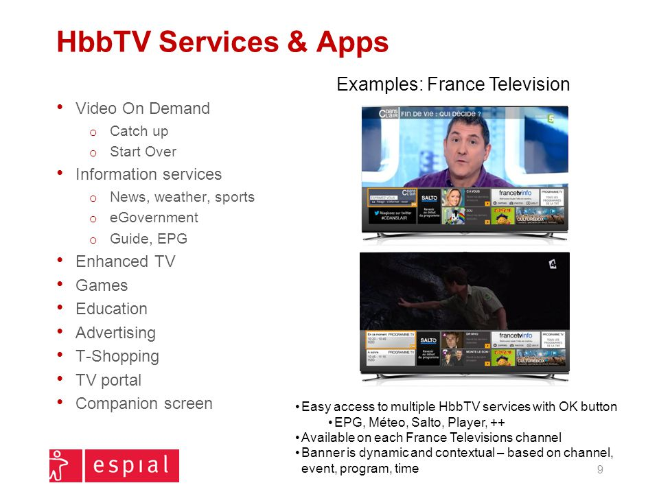 HbbTV Services & Apps Examples: France Television Video On Demand