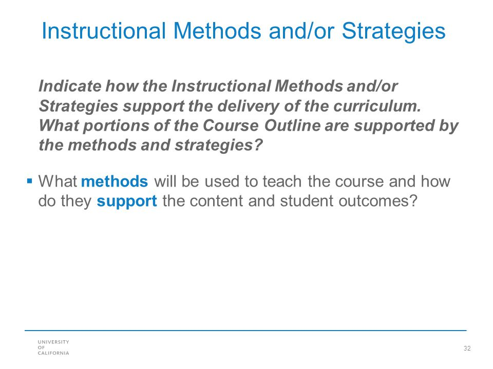 Instructional Methods and/or Strategies