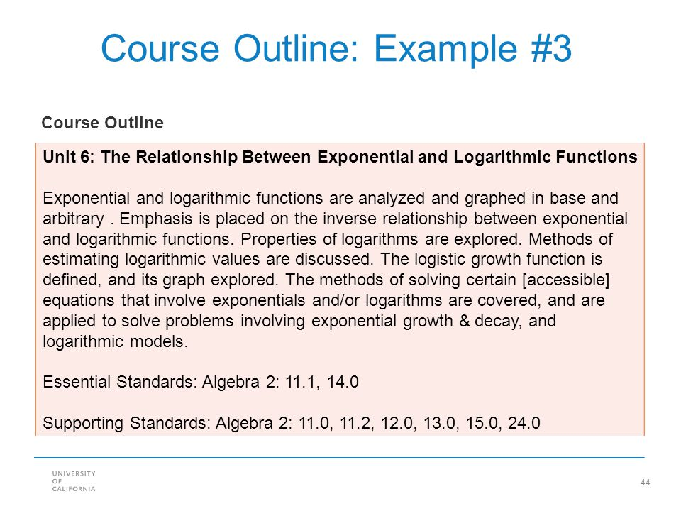 Course Outline: Example #3