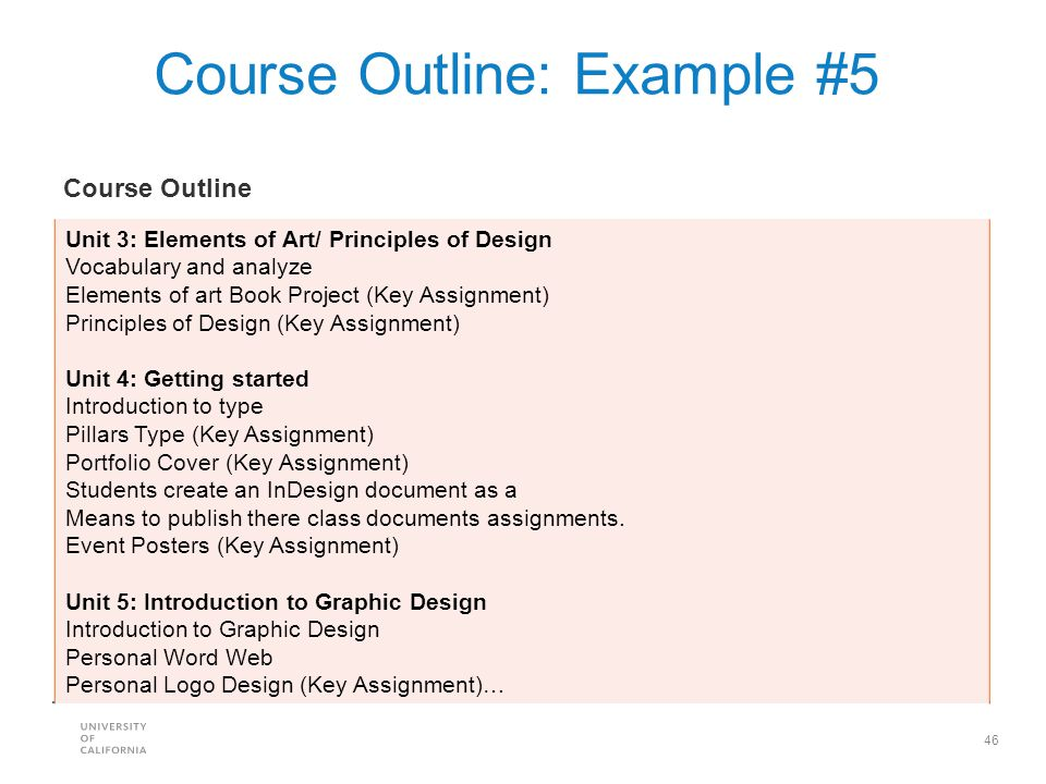 Course Outline: Example #5