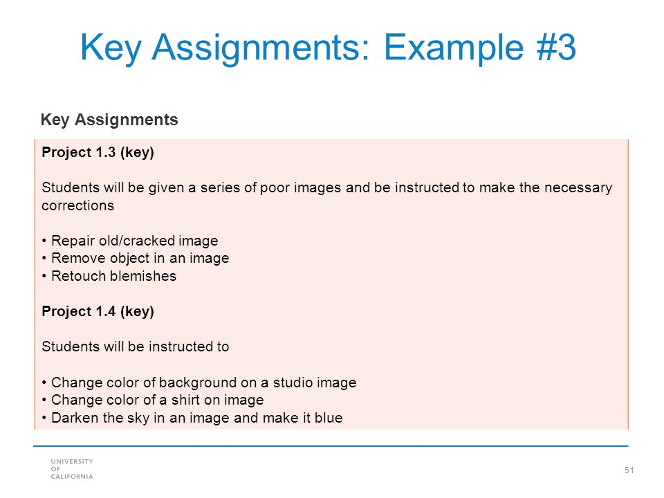 Key Assignments: Example #3