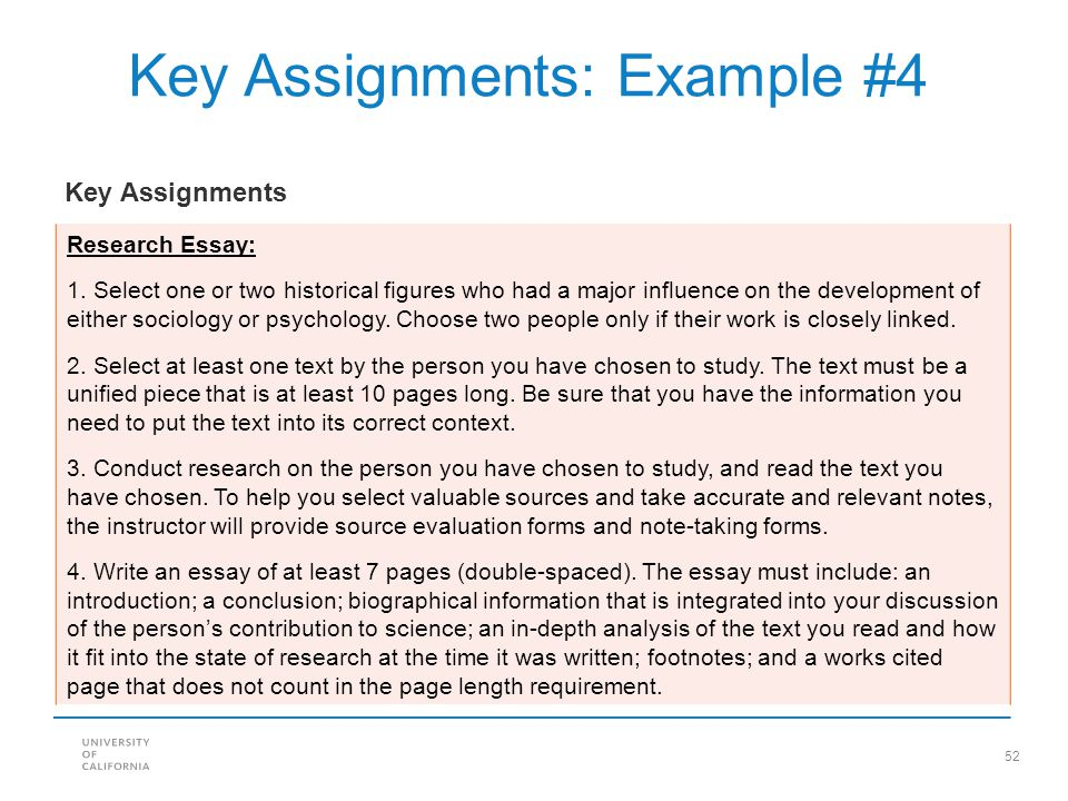 Key Assignments: Example #4