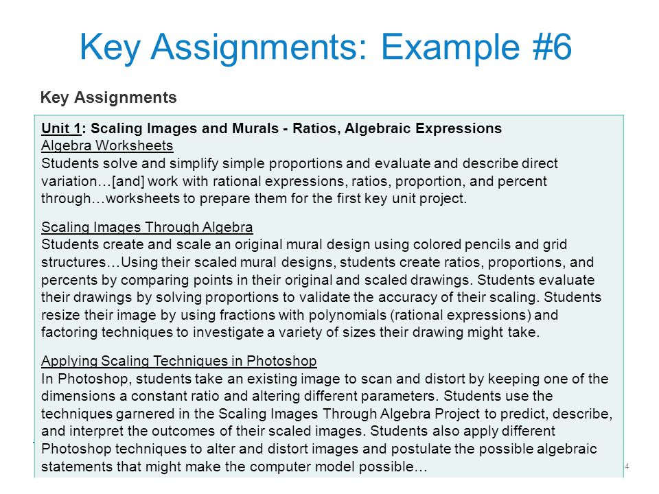 Key Assignments: Example #6