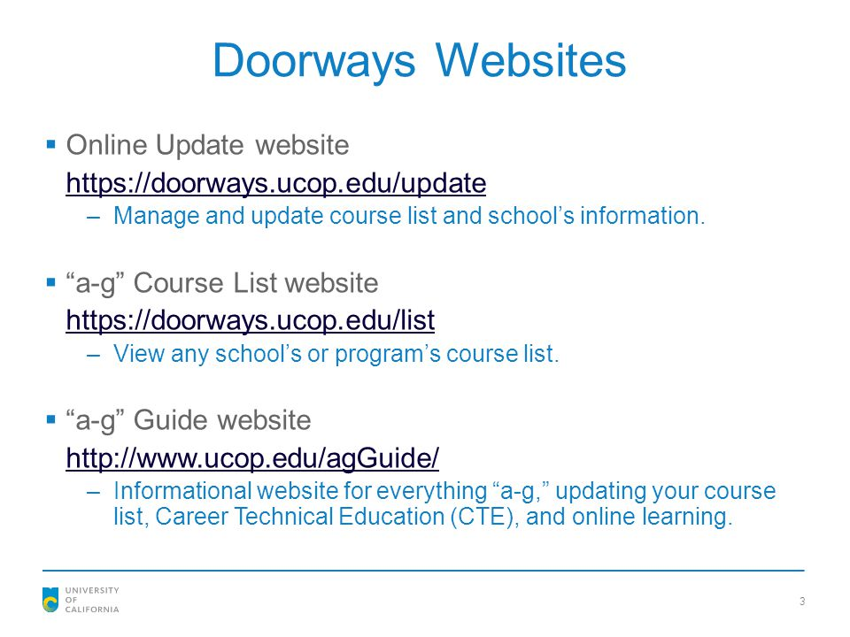 Doorways Websites Online Update website