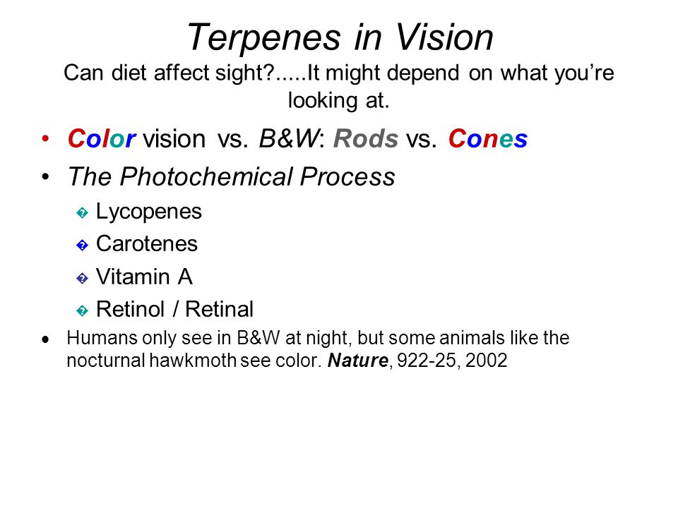 Terpenes in Vision Can diet affect sight