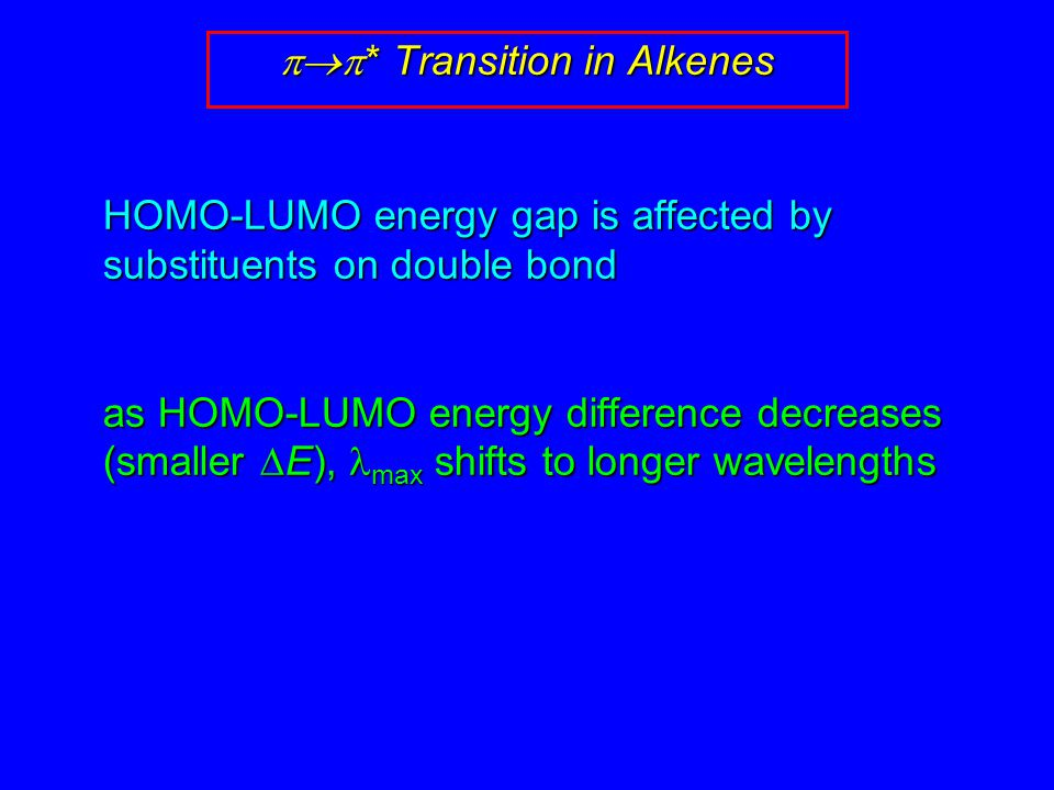 pp* Transition in Alkenes