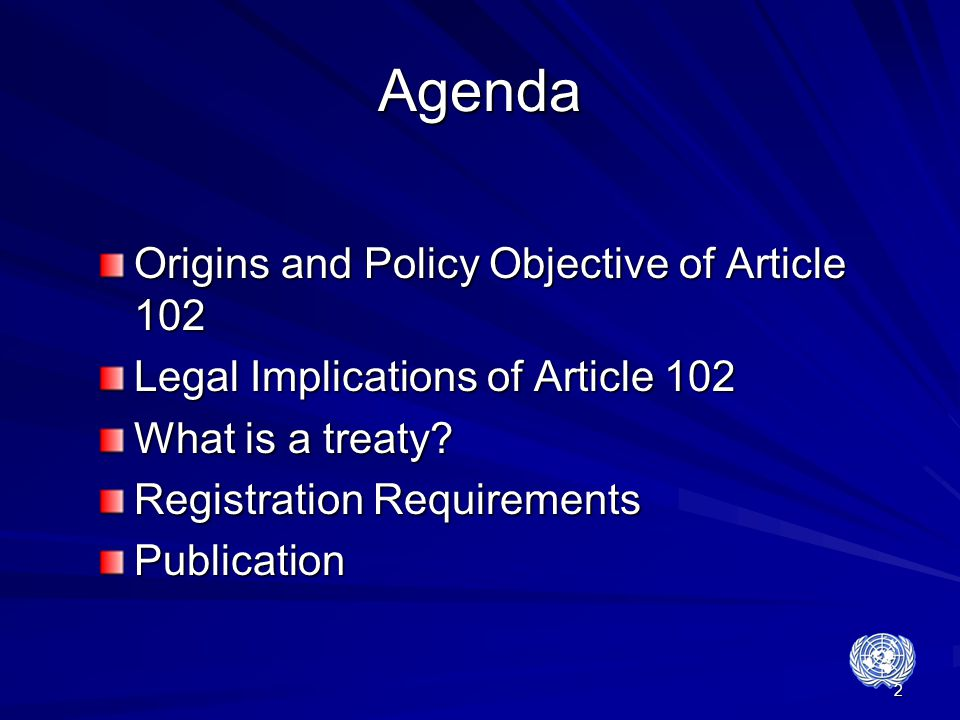 Agenda Origins and Policy Objective of Article 102