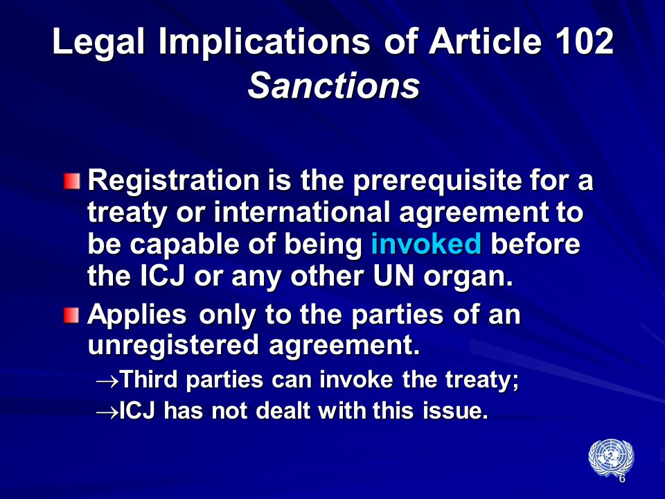 Legal Implications of Article 102 Sanctions