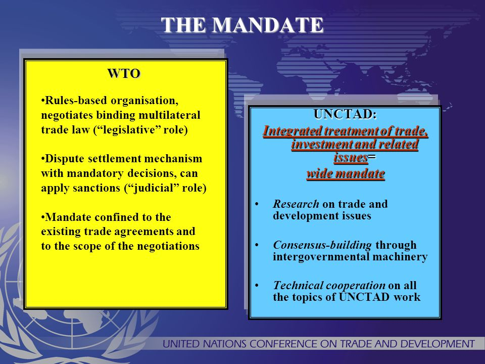 Integrated treatment of trade, investment and related issues=