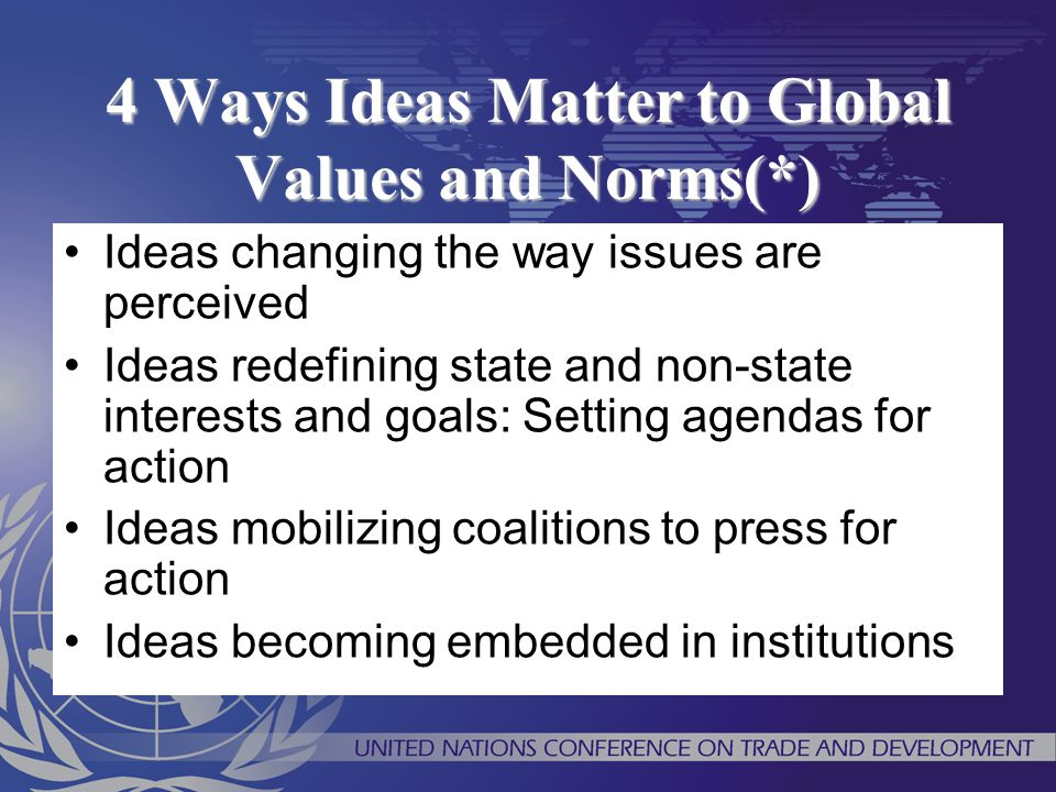 4 Ways Ideas Matter to Global Values and Norms(*)