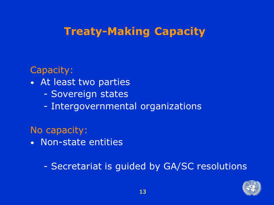 Treaty-Making Capacity